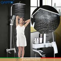 GAPPO shower faucet bathroom rainfall shower faucets bath shower bath tub mixer wall mounted shower mixers