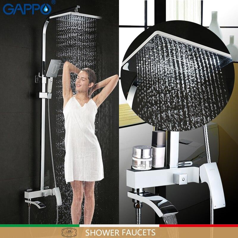 GAPPO смеситель для душа, ванная комната, смеситель для душа, ванна для душа, смеситель, настенный смеситель для душа