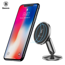 Baseus Car Phone Holder For iPhone X 8 7 Samsung S9 S8 Mobile Support GPS 360 Degree Magnetic Stand