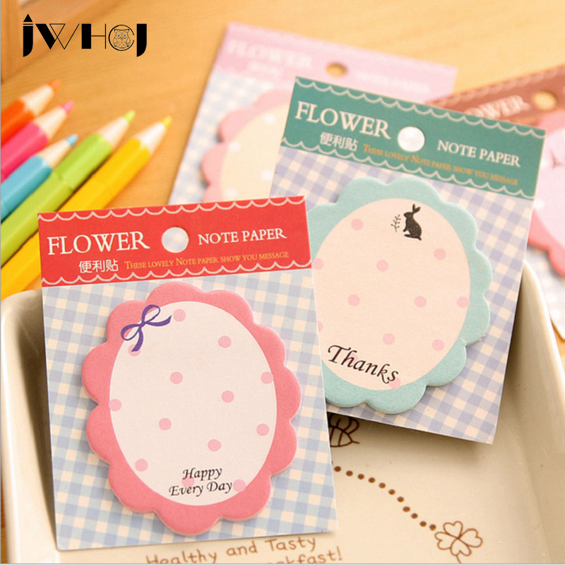 4 pcs /lot kawaii flower memo pad paper sticky notes post notepad kawaii stationery papeleria school supplies