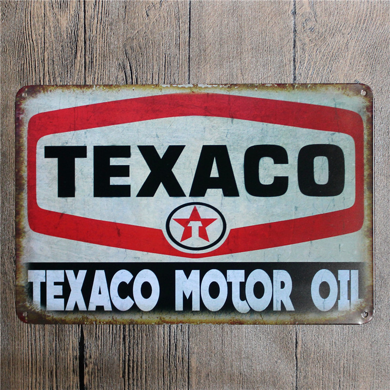 Metal tin signs esso texaco gulf mobilgas dad 39 s garage hot road man cave home decor craft wall - Esso garage opening times ...