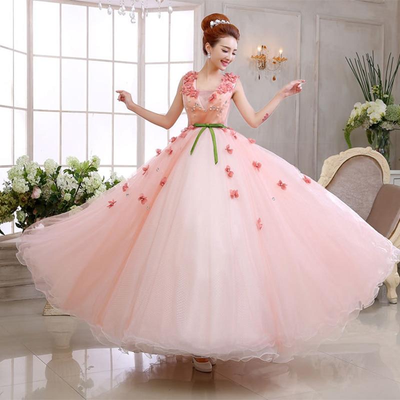 Aliexpress.com : Buy Flowers Candy Color V neck Light Pink Wedding ...