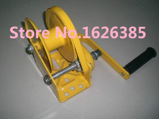 Cabrestante manual automático del viento del barco 1800lb con bloqueo automático sin cuerda de alambre y gancho, herramienta de reparación de neumáticos