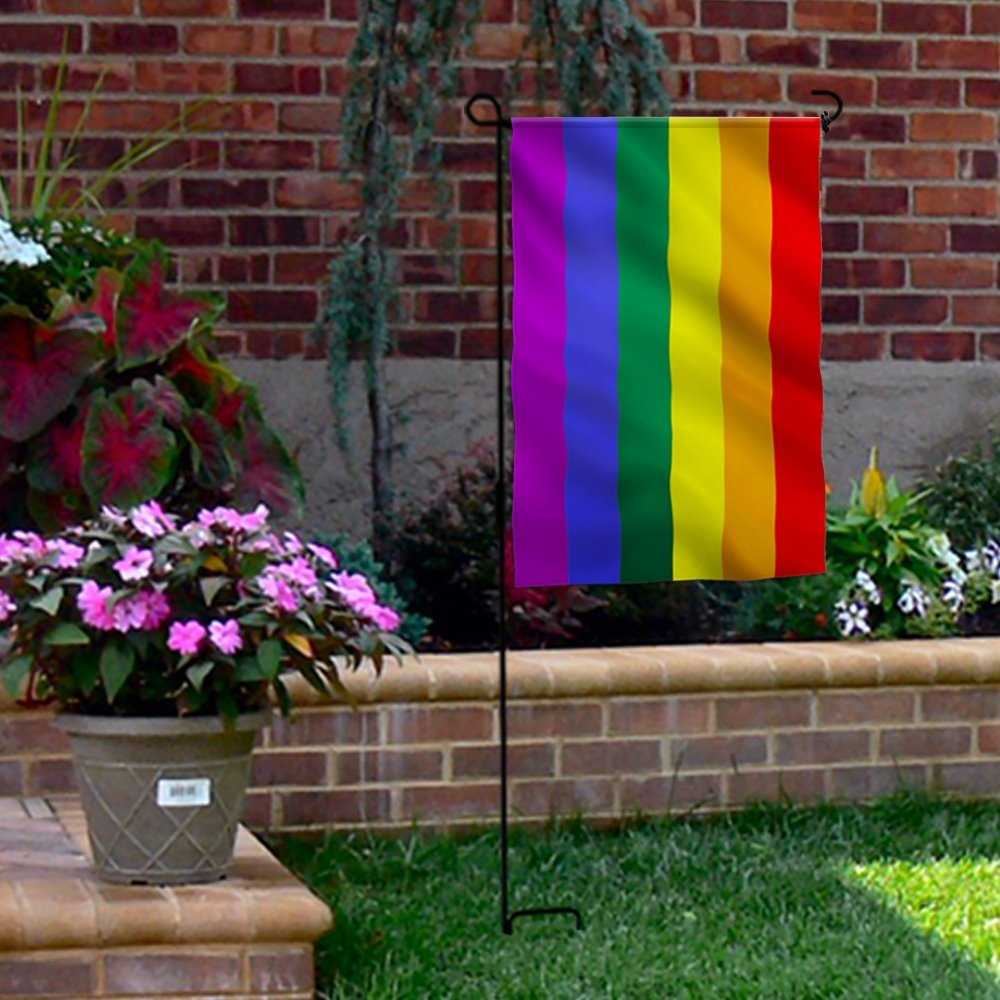 Mofan 12 5 X18 Cute Rainbow Pride Garden Flag Home Yarn Lawn Decor 30 45cm In Flags Banners Accessories From On Aliexpress