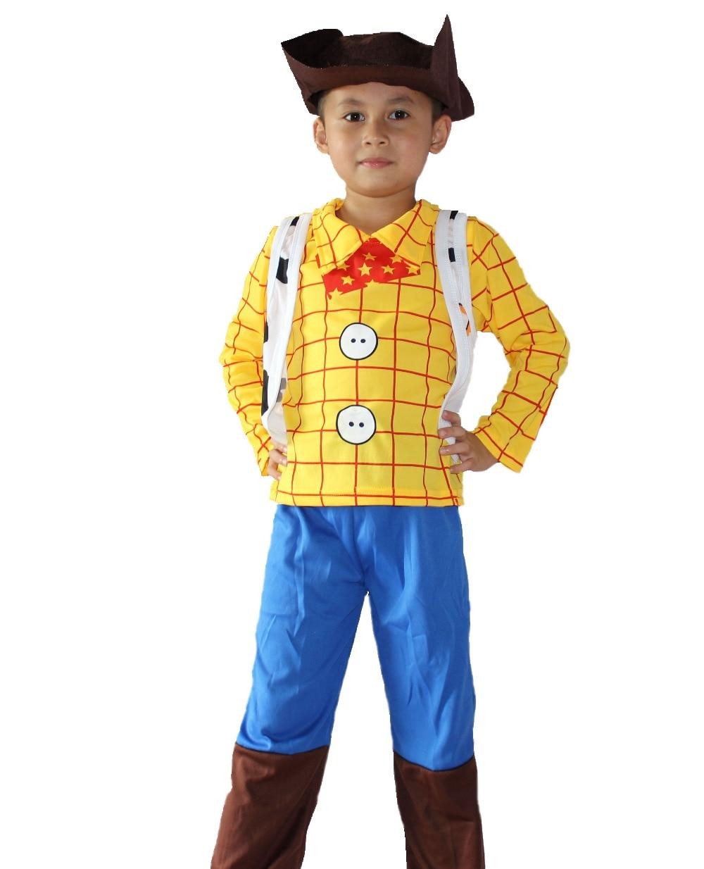 3-7 let Boy Toy Story Role hrající dřevěné cosplay, Halloween kostýmy kluk Sherif Woody model oblečení 6911 #