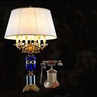 led abajur de mesa lamparas europe brief crystal bedside lamp abajur sala Lighting crystal lamp brief modern crystal table lamp
