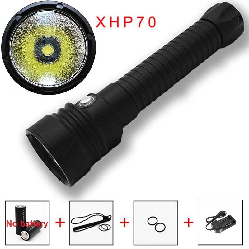 KC feu DL0017B forte lumière plongée torche 26650 batterie XHP70 puissance affichage magnétiquement contrôlée en continu gradateur lampe de poche