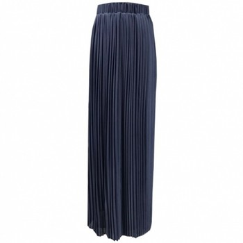 Mirsicas Maxi Long Skirt High-Waisted Crinkle Stretch Chiffon