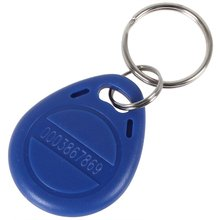 OBO HANDS Proximity EM4100 125KHz RFID EM-ID Card Tag Token Key Chain Keyfob Read Only Color Blue (Pack Of 10)