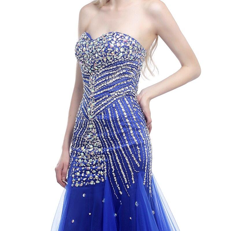 Forevergracedress Real Picture Blue Prom Klänning Ny Style - Särskilda tillfällen klänningar - Foto 4