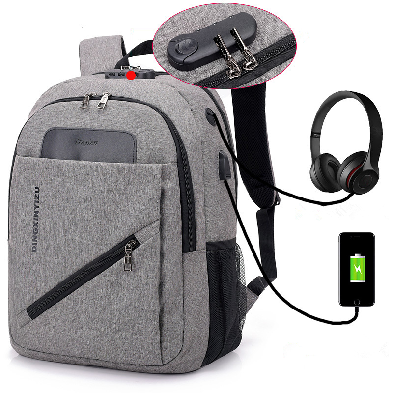 Luxury Anti theft USB Charging Travel Men Women Bag backpacks Password Lock High capacity Laptop Backpack school bags mochila