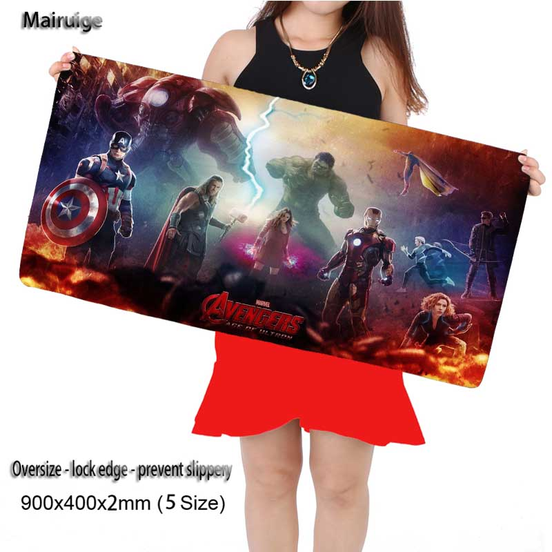 Mairuige Shop Team Movie Gaming Rubber Computer Large Movie Mouse Pads Laptop Keyboard Mat for CSGO League of Legends LOL
