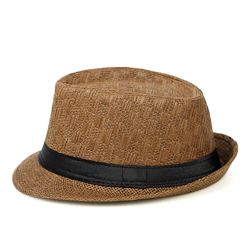 Mode Zomer Cap 2019 Chapeu Cowboy Hoeden Stro Hoeden Mannen Zwart Effen Strand Panama Hoed Jazz Fedora Zonnehoed Gorro Hombre