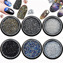 1440pcs 0,8-1,0mm Crystal AB Chaton Micro Nail Art Pixie Strasuri Mini Pixie Manichiură Decorare Tiny Pixie Rhinestones 1 sac
