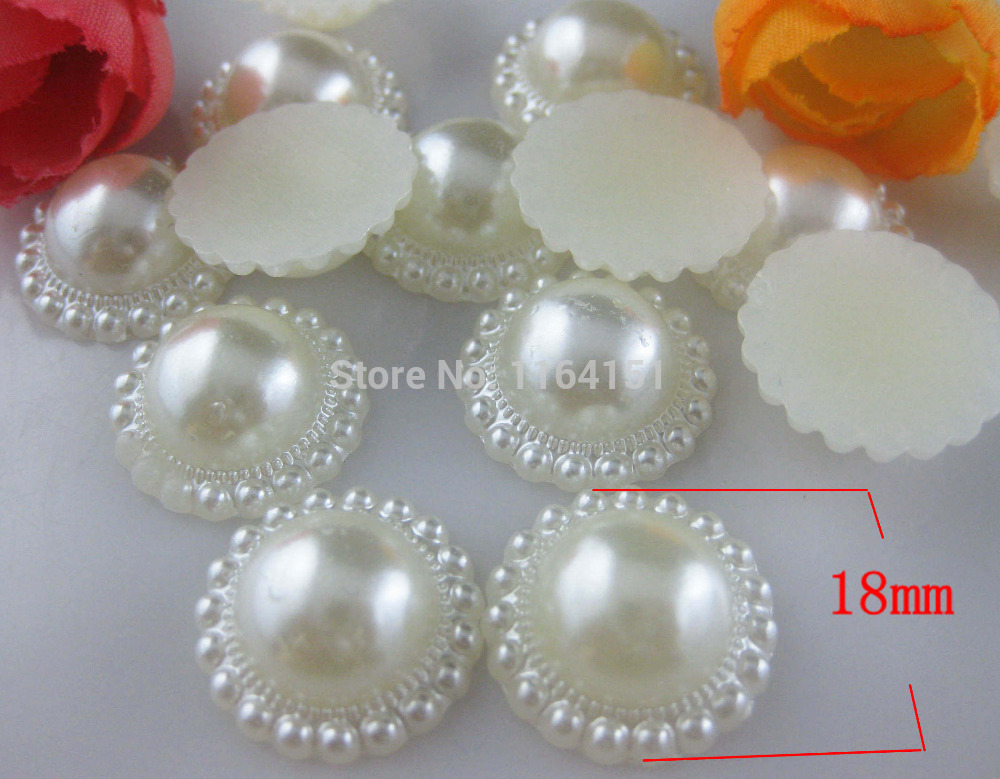 100pcs pearl button in wedding decoration wholesale buttons garment crafts botoes scrapbook accessory embellishment hair bow