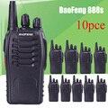 10 pcs Bateria Recarregável Walkie Talkies BaoFeng BF-888S UHF CB Rádio Em dois Sentidos Comunicador Portátil Rádio em Dois Sentidos Handheld Transceiver