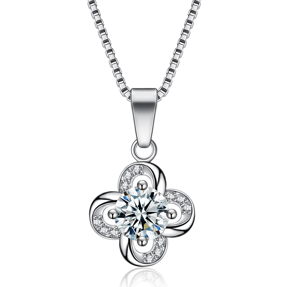 (12 pcslot) Mimeng luxury lucky clover pendant necklace wedding and engagement pendant necklace jewelry gifts high quality