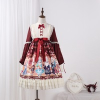 2019 Direct Selling New Original Design Lolita Showa Rabbit Op The Saliva Dripping Sweet Is Printed Daily Dress