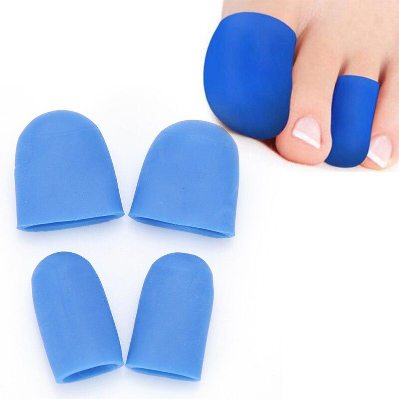 1 Paar Silikon Gel Füße Pflege Kappe Rohr Einlegesohlen Verband Schmerzen Relief Finger Fuß Protektoren Schutz Werkzeug