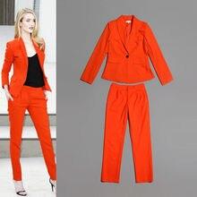 New Summer Women Ladies Orange Party Suits Evening 2-Piece Tuxedos Silm Fit Suit r austin freeman osirise silm