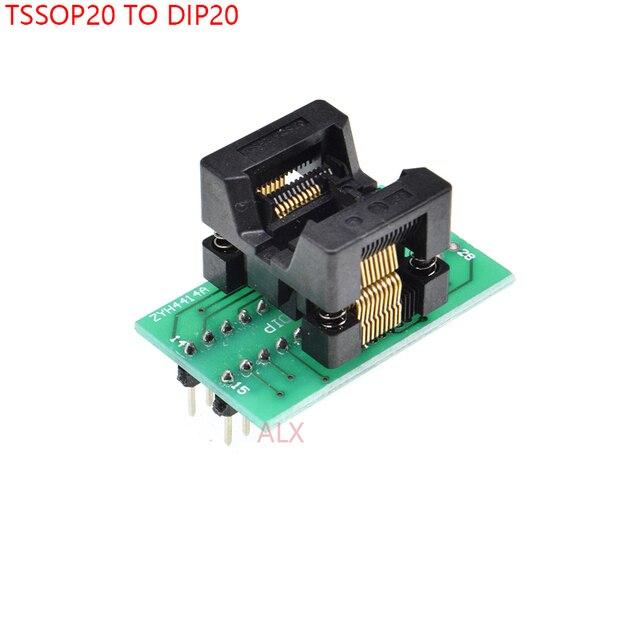 1 pièces SSOP20 TSSOP20 à DIP20 programmeur adaptateur prise TSSOP à DIP convertisseur puce de test IC ots-20 (28)-0.65-01 pour pas de 0.65 MM