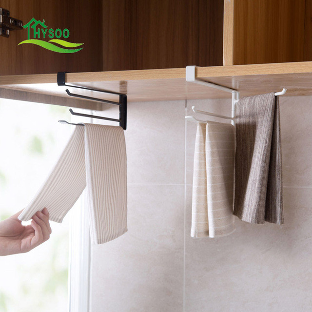 Iron Wig Racks Kitchen Cabinets Hanging Towel Rack Bathroom Punch Free Bar