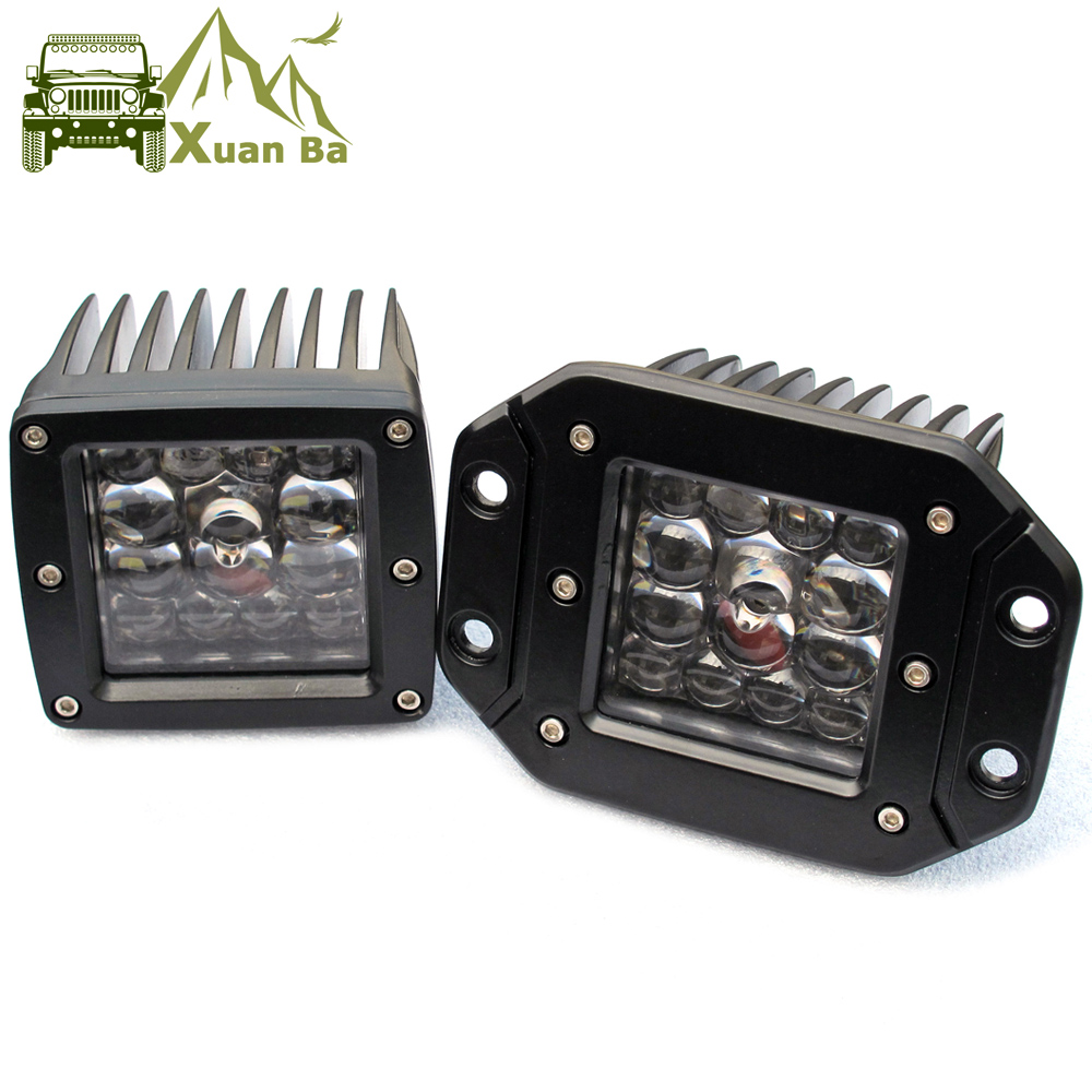 3 Inch 5 Led Driving Light For Car 4x4 Off road SUV ATV 4WD Pickup Trucks Wrangler 12V 24V Flush Mount Headlight Work Lights image