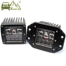 "3 zoll 5 ""Led Treibendes Licht Für Auto 4x4 Off road SUV ATV 4WD Pickup Lkw Wrangler 12V 24V Flush Mount Scheinwerfer Arbeit Lichter"