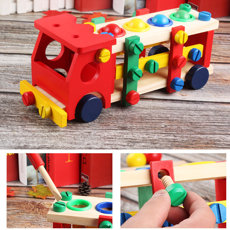 Wooden Assembly Toy Truck Puzzle 23