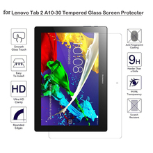 Screen Protector Tab 2 A10-70 Tempered Glass for Lenovo Tab 2 a10-30 X30F X30L Tablet 10.1 inch Screen Glass tb2-x30l x30 Glass for lenovo tab 2 x30 x30m x30f tb2 x30f a10 30 ultra slim soft silicone rubber silicon tablet protect tpu case cover