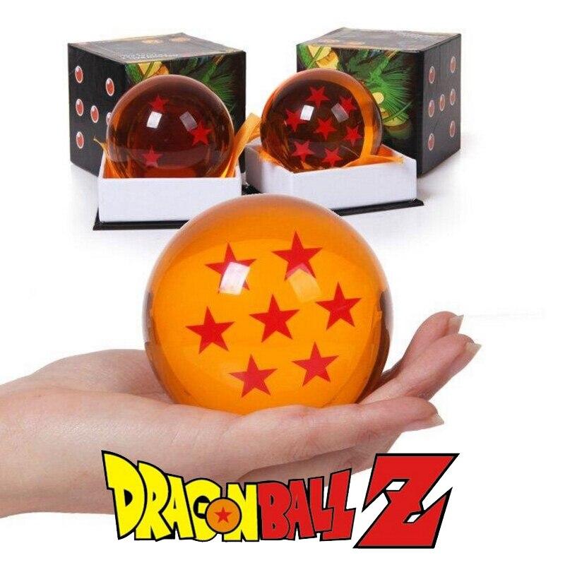 Caja Original 7,5 cm Dragon Ball Z bolas de cristal figura de acción Anime 1 2 3 4 5 6 7 estrella Dragonball niños Juguetes