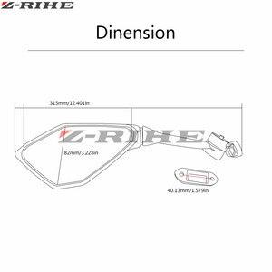 Черное зеркало заднего вида для мотоцикла, боковое зеркало для Honda CBR 600 F2 F3 F4 F4i CBR600RR CB1000R CB599 CB600 CBR900RR NC700 PCX12