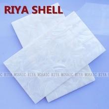 Free Shipping RIYA grade natural surface white Chinese freshwater shell laminate for musical instrument and furniture 15pcs/lot