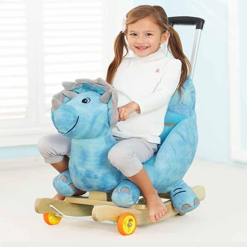 Bébé poussette en peluche cheval jouet Rock chaise bébé videur bébé balançoire siège extérieur fille pare-chocs enfant Ride On jouet à bascule poussette jouet