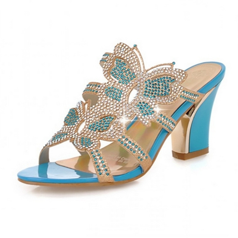 11413bea6 Factory Promotion Women Sandals Leisure Thick Heel Rhinestone Sandals Party Wedding  Flip-flops Open Toe Platform Summer Shoes