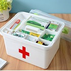 Portable Household First-Aid Kit Medicine Double Layer Sundries Storage Box Multifunctional Medicine Box Pill Organizer