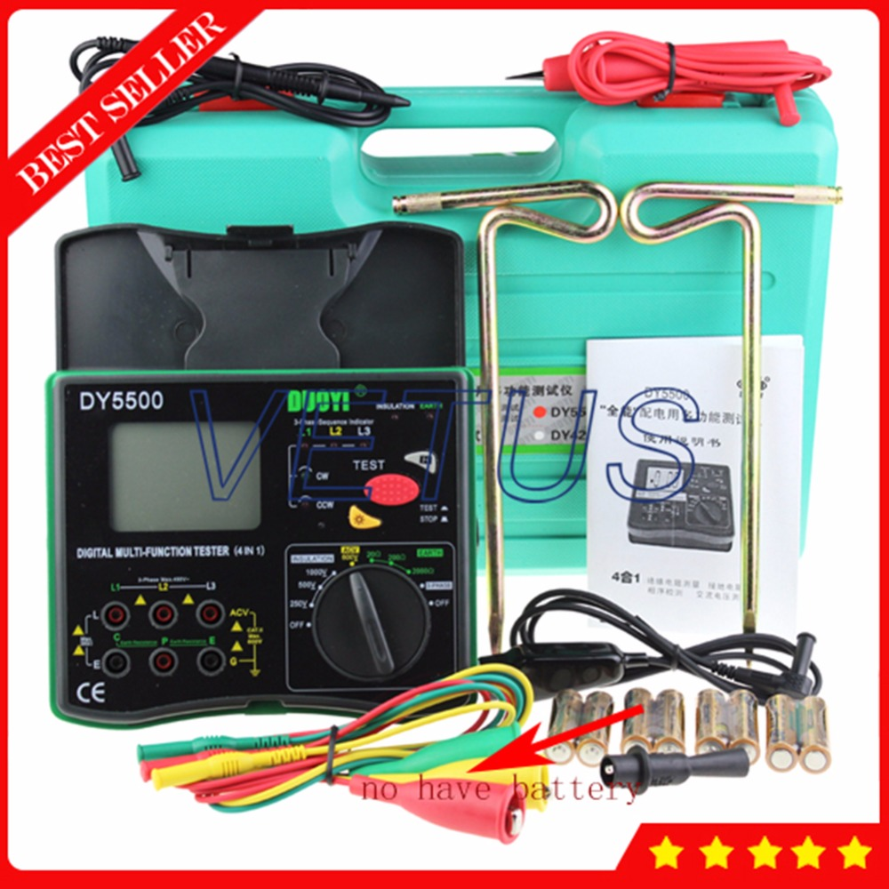 Aliexpress.com : Buy DY5500 4 in 1 Digital Ground Resistance Tester ...