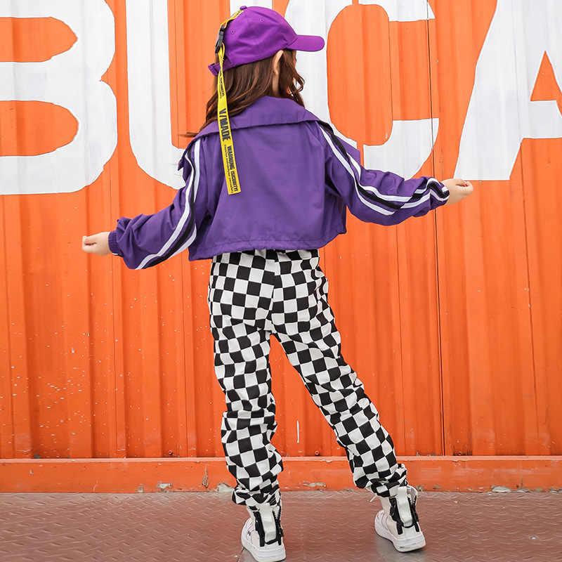 Дети хип-хоп костюмы для модная одежда для девочек Джаз Бальные Одежда для танцев производительность этап танцевальной одежды Танцы костюм выставка костюмов