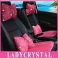 Ladycrystal Cute Diamond Breathable Pillows Auto interior  Heardrest Neck Waist Hold Pillows