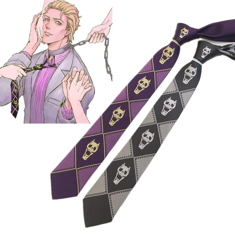 JoJo's Bizarre Adventure Cosplay Tie Kira Yoshikage KILLER QUEEN Skull Neck Heavens Door Cosplay Costume Ties
