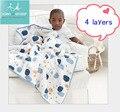 Бесплатная доставка аден anais осень новорожденных поставки ребенок марли держит одеяла утолщение 100% муслина хлопка 4 слоя с лейблом 720 г
