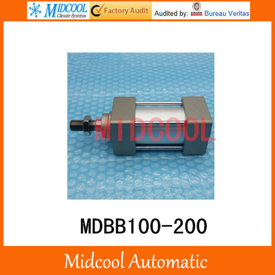 MDBB100-200 Air Cylinder Standard Type Double Acting Single Rod bore 100mm stroke 200mm mgpm63 200 smc thin three axis cylinder with rod air cylinder pneumatic air tools mgpm series mgpm 63 200 63 200 63x200 model