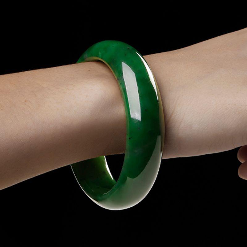 AAA красивый женский браслет китайский зеленый резной браслет 54 мм-65 мм KYY8737
