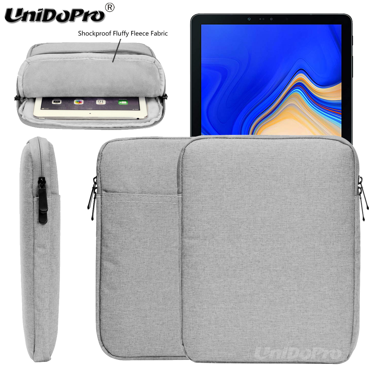 Waterproof Pouch Case For Samsung Galaxy Tab S4 T830 T835 10.5-Inch 2018 New Tablet Protective Travel Sleeve Zipper Bag Cover