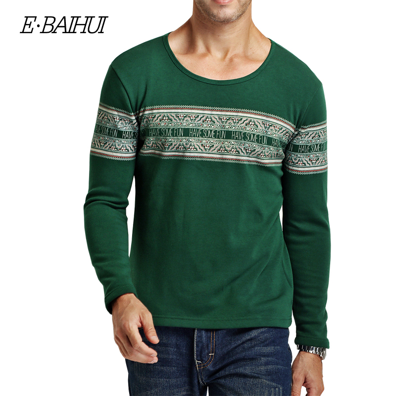 E-BAIHUI brand underwear T-shirt mens t shirts mens hoodies and sweatshirts tshirt warm t shirt hoodies men tops tees swag JR037