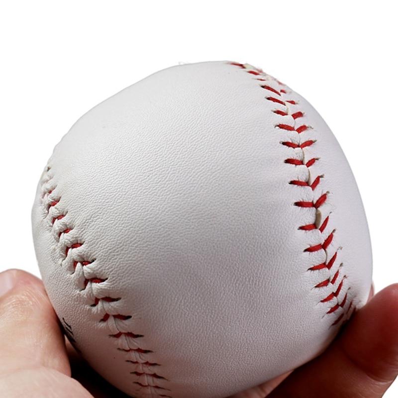 10 Inches Universal Handmade Baseballs PU Hard&Soft Baseball Balls Softball Ball Training Exercise Baseball Balls