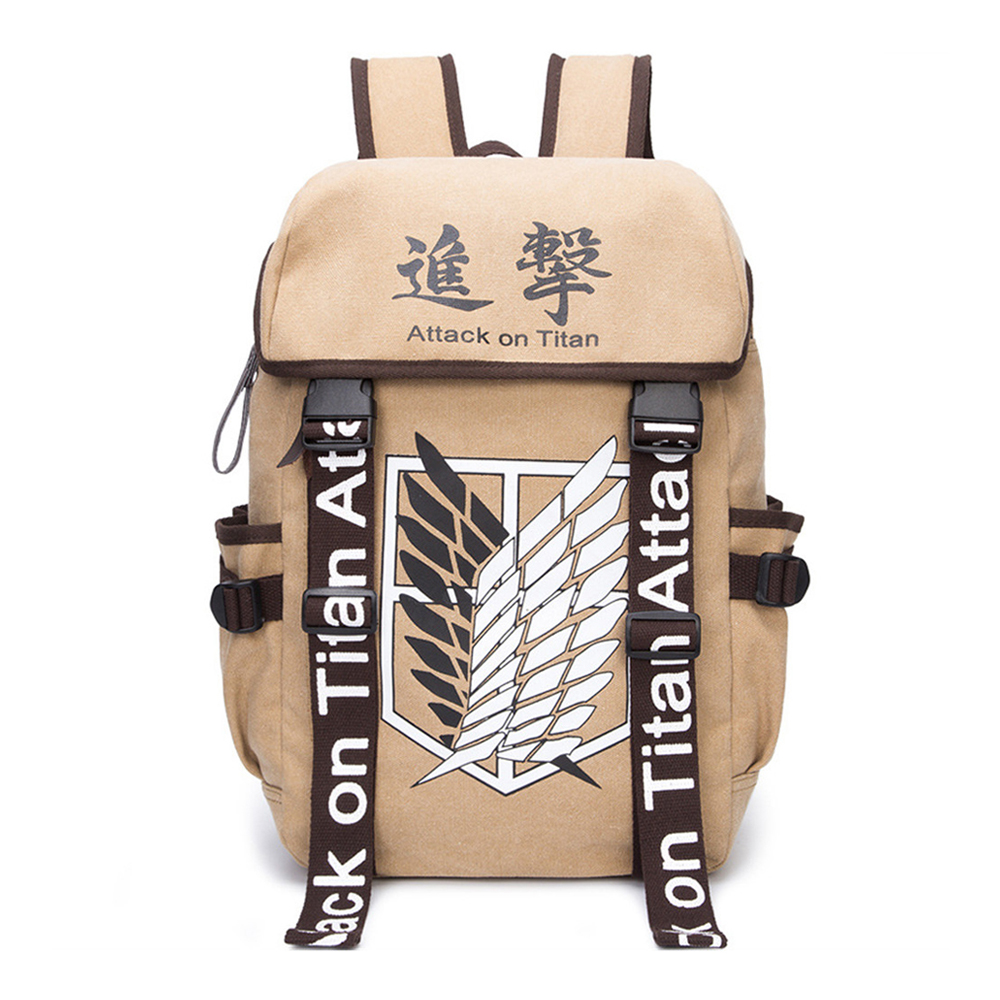 Jiyuu no Tsubasa Backpack Attack on Titan Teenagers Shoulder Bag Wings of Liberty купить недорого в Москве