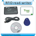 O envio gratuito de 125 Khz EM4100 RFID copiadora/escritor/duplicador (T5557/T5577/EM4305) livre 10 pcs cartões graváveis