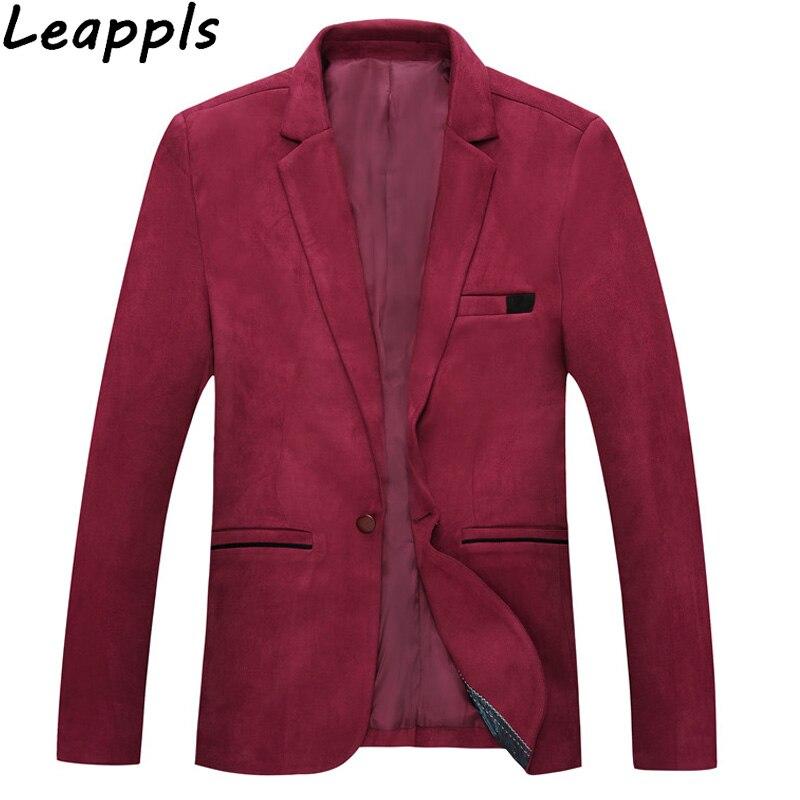 Leappls Corduroy 5XL Men Blazers Smart Casua blazer masculino slim fit coat mens blazers and suit jackets Outerwear 2018 autumn ...