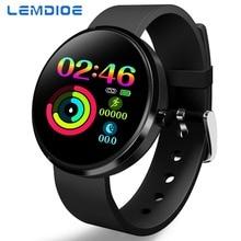 LEMDIOE smart fitness bracelet woman heart rate blood pressure monitor smartband  pedometer Weather display couple bracelet